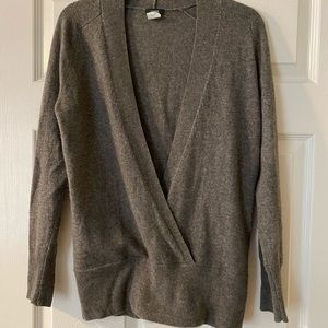 J. Crew Wrap Cashmere Blend Sweater size Small